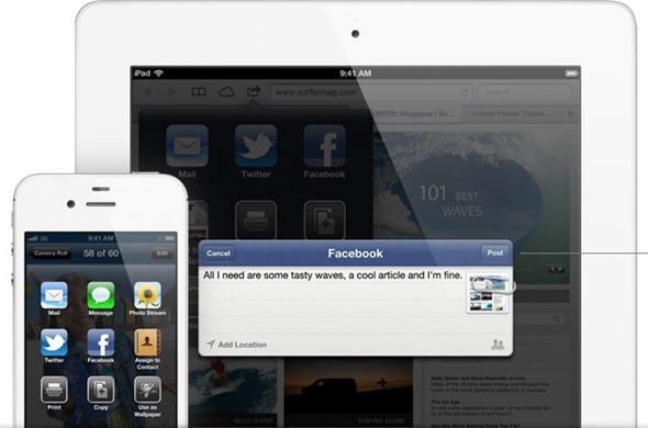 ios 6 Facebook inegration